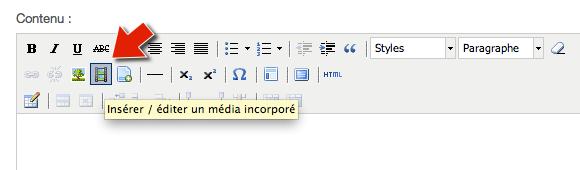 Abcnatation // Insérer une vidéo - Icone Média