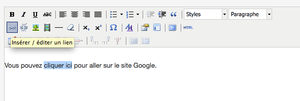 cr u00e9er des liens hypertextes  u2013 abcnatation support