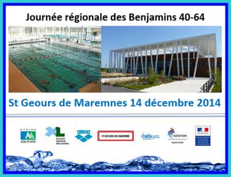Club natation hendayais journ e r gionale benjamins st for Aygueblue piscine