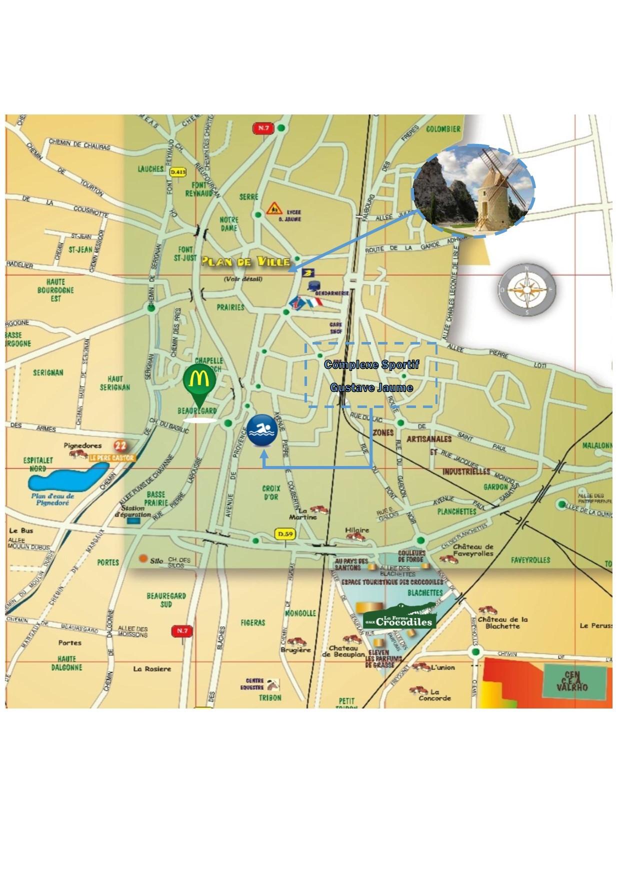 Plan ville de Pierrelatte