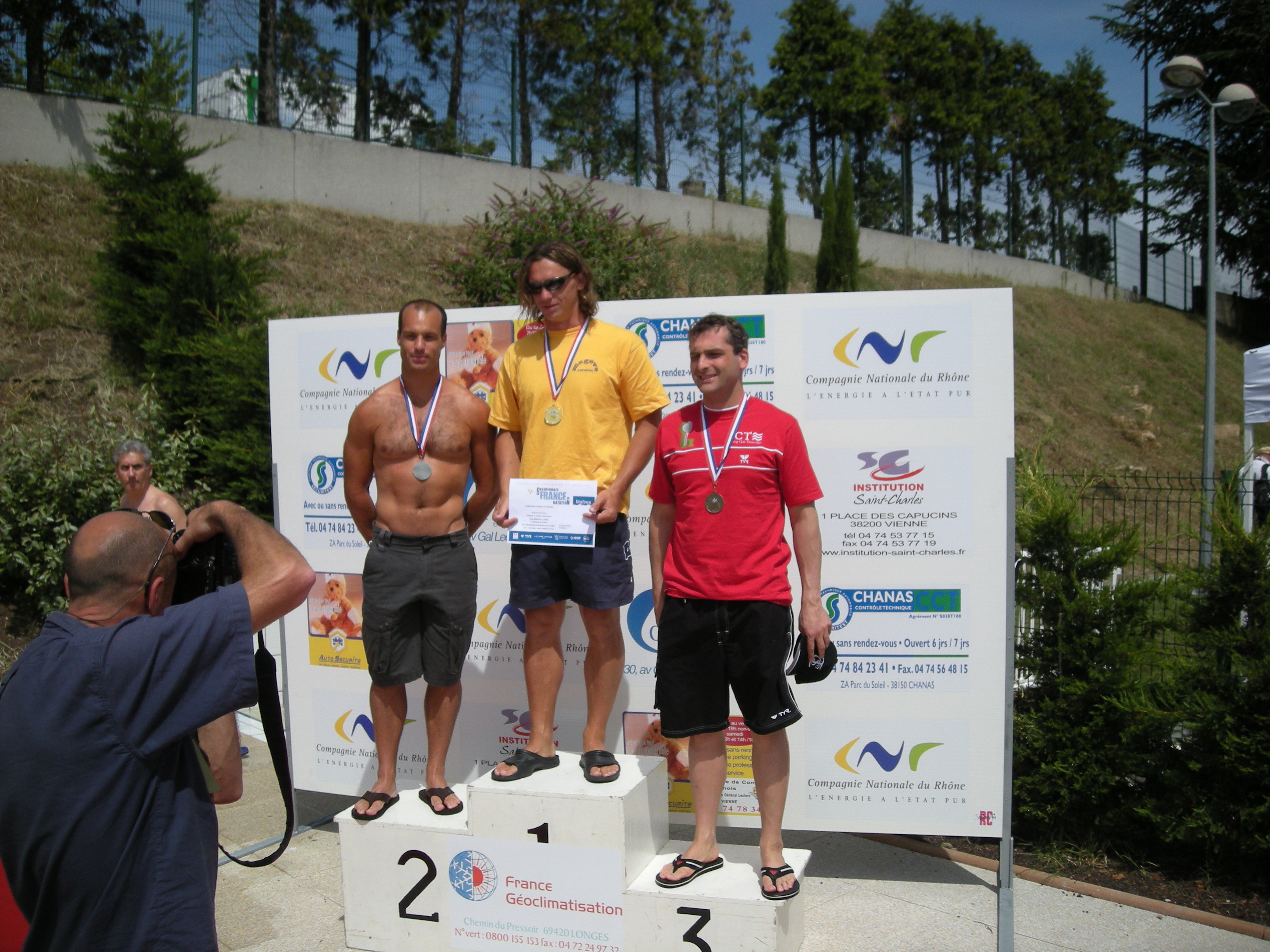 Fred Boulay Champion de France Masters sur 50m Brasse en 2009