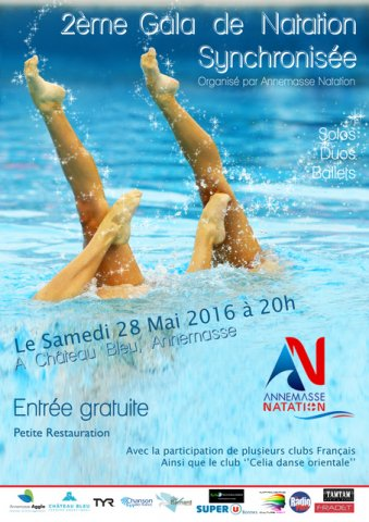annemasse natation gala de natation synchronis e 28 mai 2016 abcnatation. Black Bedroom Furniture Sets. Home Design Ideas