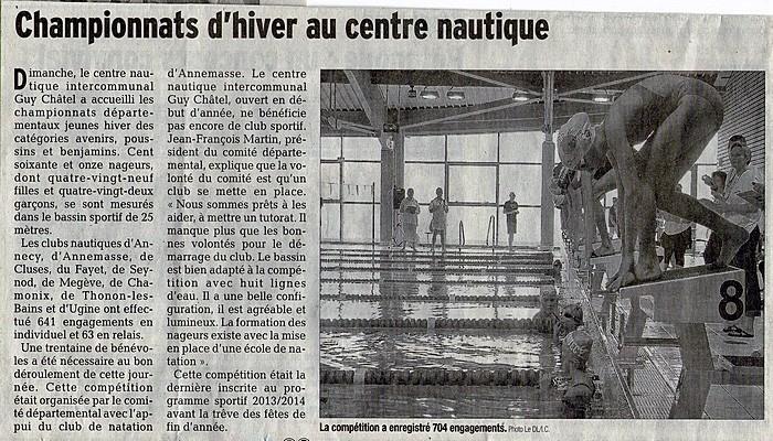 Le Dauphiné Libéré du 17décembre 2013