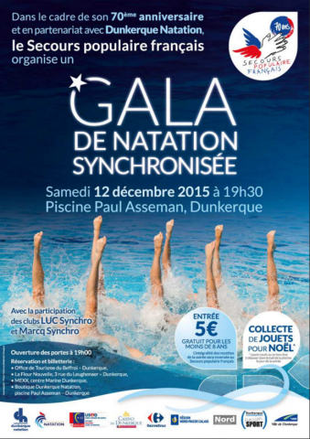 Lille universit club natation synchronis e gala de for Piscine paul asseman