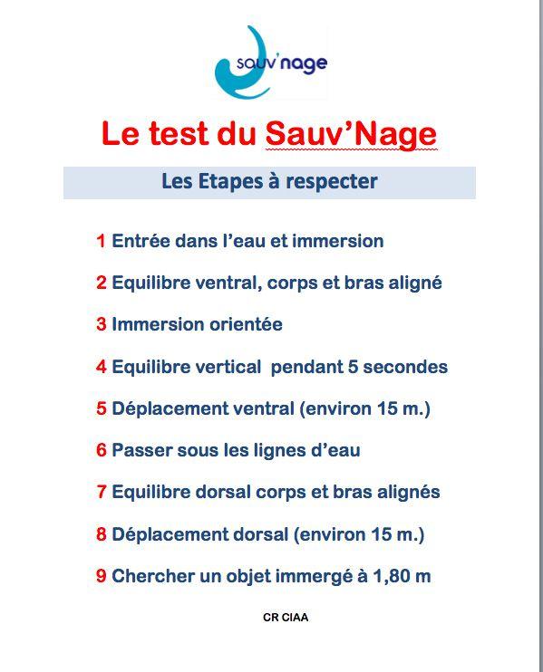 test sauv'nage