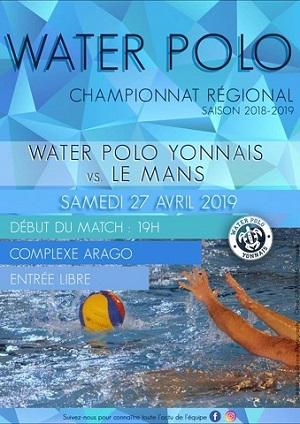 Affiche match water polo