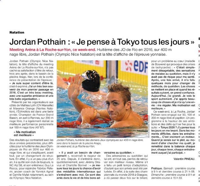 Article ouest France meeting Arena