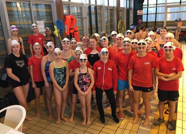 Equipe féminine La roche sur yon natation