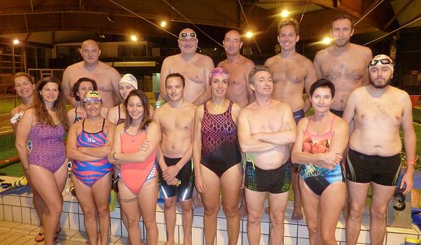 le groupe des nageurs en Master