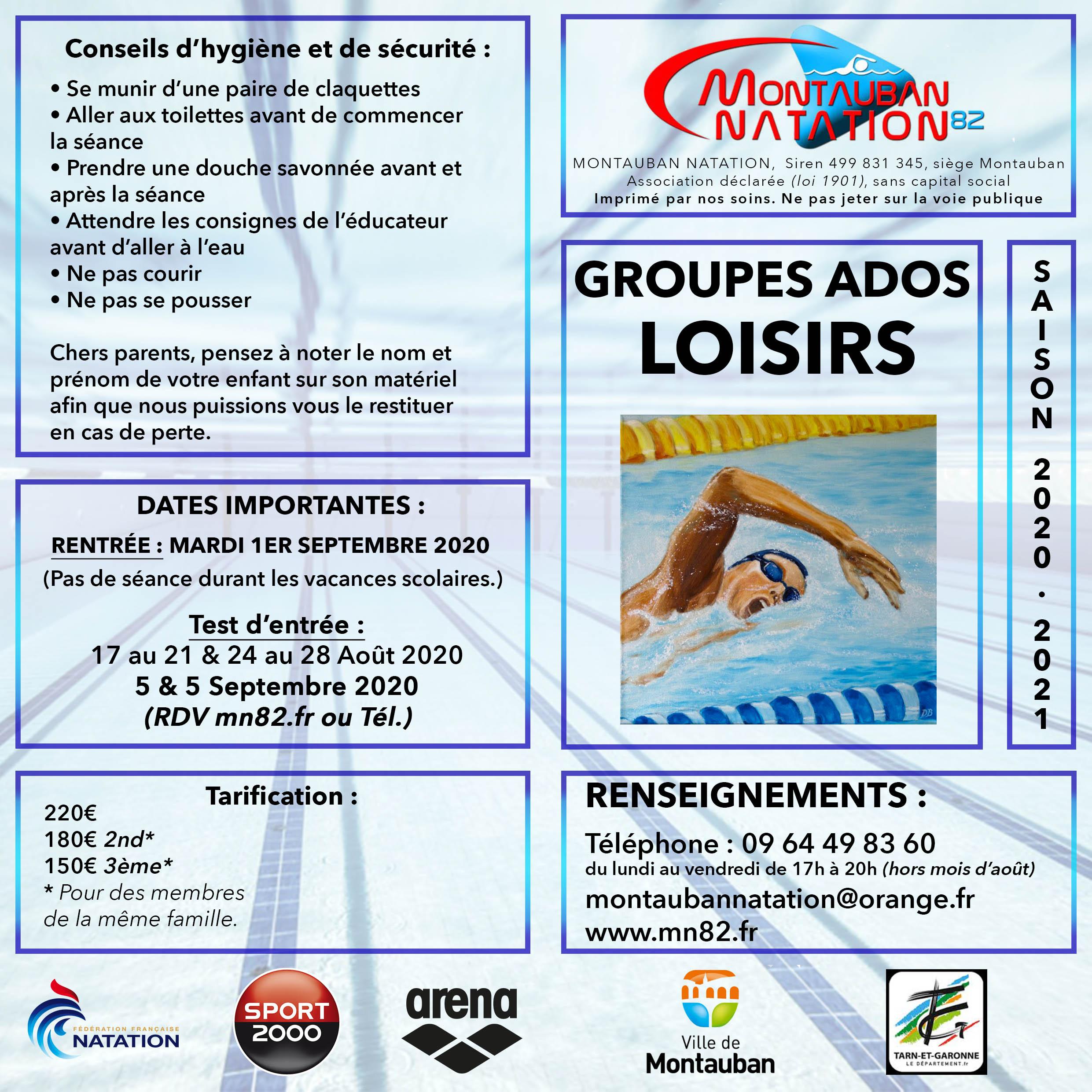 flyer présentation groupe Ados Loisirs MN82