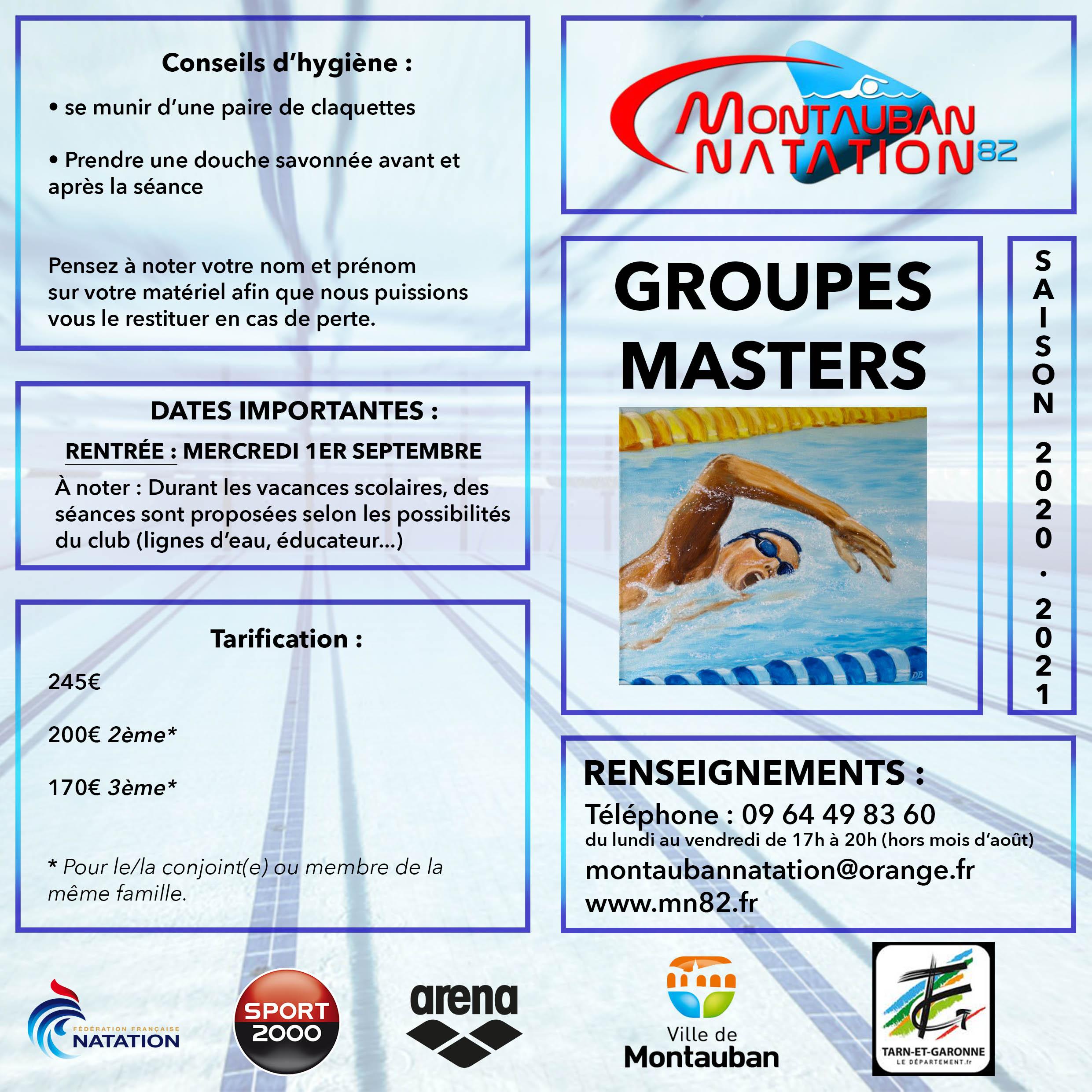 Flyer de présentation Section Masters MN82